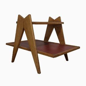 Low Oak Sofa Table by Guillerme et Chambron & Rene Gabriel Gascoin, 1950s