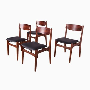 Mid-Century Rosewood & Teak Dining Chairs, 1960s, Set of 4