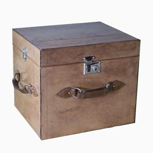 Leather Hat Trunk or Travel Trunk, 1930s
