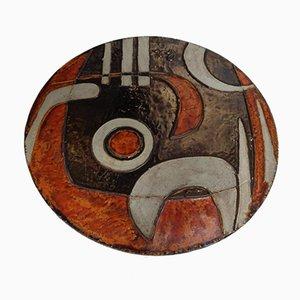 German Ceramic 304 Wall Plaque by Helmut Friedrich Schäffenacker for Atelier Schäffenacker, 1970s