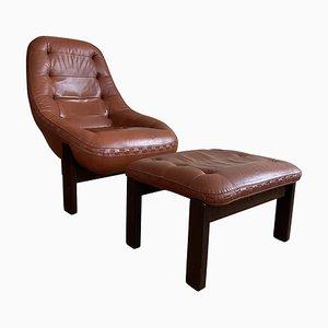 Tripod Chair in Cognac by Jean Gillon