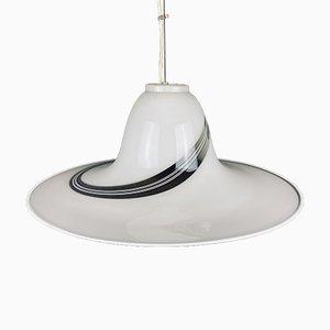 Vintage Murano Glass Swirl Pendant Lamp, Italy, 1970s