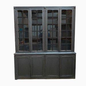 Large Oak Display Cabinet