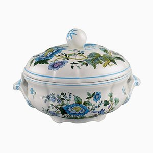 Mulberry Lidded Soup Tureen in Hand-Painted Porcelain from Spode, England