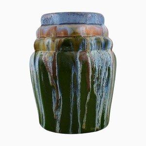 European Vase in Glazed Ceramic, Mid-20th Century