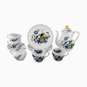 4-Person Bluebird Coffee Service in Hand-Painted Porcelain from Spode, England, Set of 14
