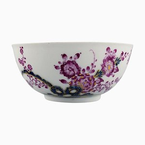 Large Antique Soup Bowl in Hand-Painted Porcelain from Meissen, 1740s