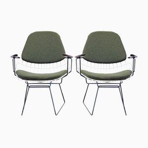 Wire FM06 Armchairs by C. A. Dekker Braakman for Pastoe, Set of 2