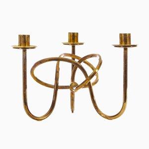 Mid-Century Scandinavian Candlestick in Brass by Josef Frank for Svenskt Tenn