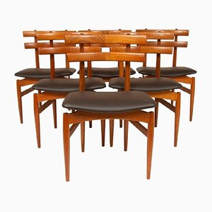 Teak Dining Chairs by Poul Hundevad, 1950s, Set of 6