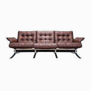 Mid-Century Atlantis Brown Leather Sofa from Ebbe Gehl & Søren Nissen, 1970s