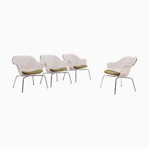 Luta White Chairs by Antonio Citterio for B&B Italia, 2004, Set of 4
