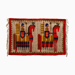 Kilim Hand Woven Rug by M. Domanska, 1960s