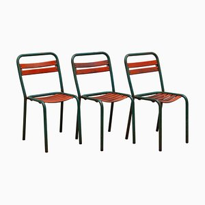 Bistro Outdoor Chairs, France, 1930s, Set of 3
