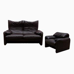 Maralunga Sofa & Armchair by Vico Magistretti for Cassina, Italy, Set of 2