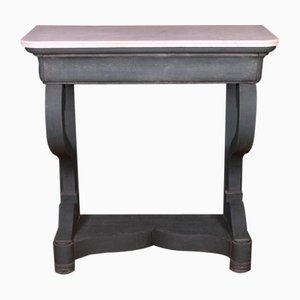 French Marble Top Console Table, 1860s