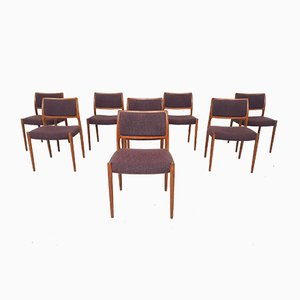 Model 80 Teak Dining Chairs by Niels Otto Moller, Denmark, 1960s, Set of 8