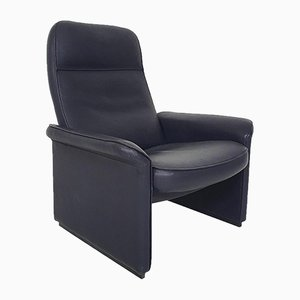 DS50 Dark Blue Leather Lounge Chair from De Sede, Switzerland; 1980s