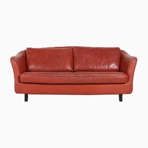 Swedish Vintage Leather Sofa from Dux, 1970s