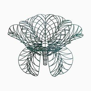 Green Flower Armchair