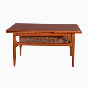 Teak Danish Trioh Extendable Coffee Table, 1960s