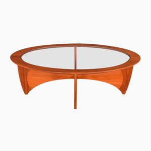 Teak & Glass Oval Astro Coffee Table by Victor Wilkins for G-Plan