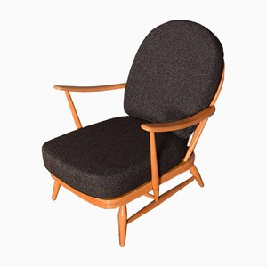 Vintage Elm Model 203 Easy Chair Reupholstered by Lucian Ercolani