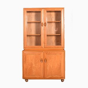 Vintage Blonde Model 805 & 802 Two Door Glazed Cabinet by Lucian Ercolani