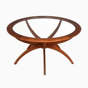 Teak Spider Teak & Glass Astro Coffee Table by Victor Wilkins