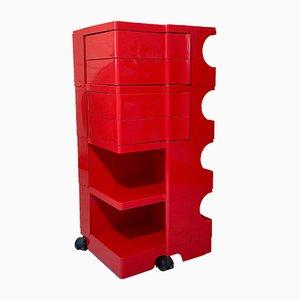 Red Vintage Large Boby Trolley by Joe Colombo for Bieffeplast, 1969