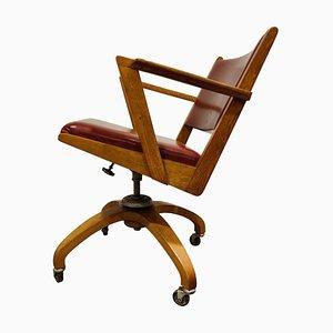 Vintage Decoene Reclining Desk Chair, 1950s