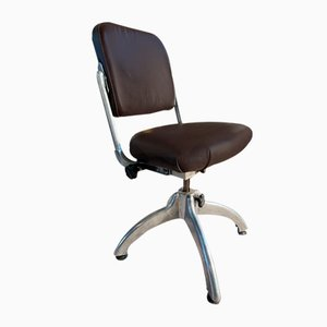 Machinists Tan Sad Factory Chair, 1930s