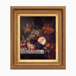 Joseph Henry Byard, Abundant Still Life with Fruit, Oil on Canvas