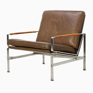 FK 6720 Leather Chair by Fabricius & Kastholm for Kill International, 1960s