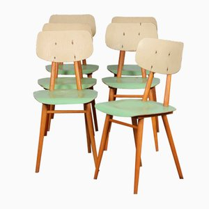 Chairs of the Eastern Countries from TON, 1960s, Set of 6