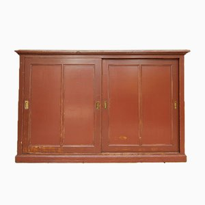 Vintage Cabinet with Sliding Doors
