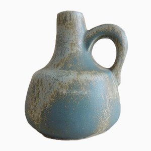 Otto Ceramic Vase in Eucalyptus Green with Henkel