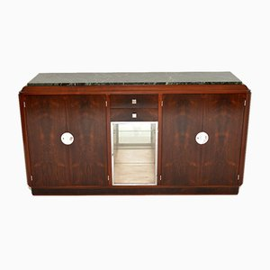 French Art Deco Wood & Marble Sideboard, 1920s