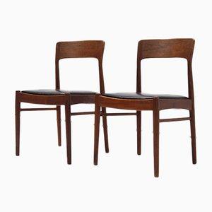 Danish Chairs by Henning Kjaernulf for Korup Stolefabrik, Set of 2