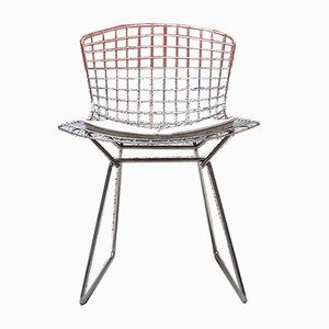 Mid-Century Modern Italian Metal Chairs in the Style of Harry Bertoia, 1970s, Set of 5