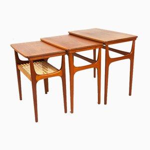 Vintage Danish Teak Nesting Tables by Erling Torvits for Heltborg Møbler, 1950s, Set of 3