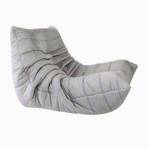French Silver-Grey Togo by Michel Ducaroy for Ligne Roset, 1970s