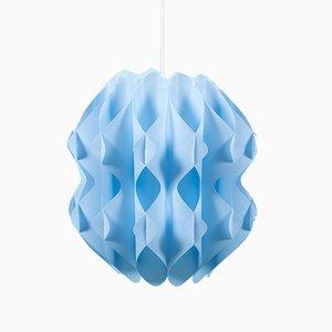 Mid-Century Danish Pendant Lamp in Blue, 1960s