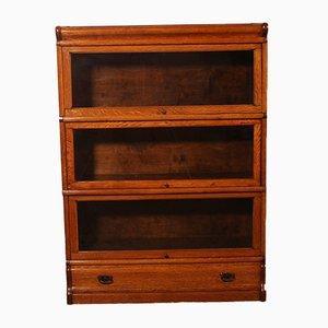 Oak Bookcase with 3 Shelves from Globe Wernicke