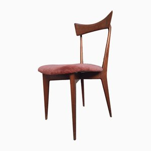 Model 1954 Mahogany Chairs by Ico Parisi for Aribert Colombo, 1950s, Set of 5