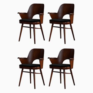 Mid-Century Dining Chairs Reupholstered in Kvadrat Fabric by O. Haerdtl, Set of 4