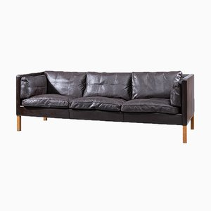 3-Seater Leather Model 2443 Sofa by Børge Mogensen for Fredericia Furniture