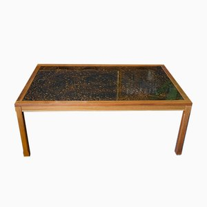 Large Mid-Century Danish Style Coffee Table in Rosewood & Resin Detailing