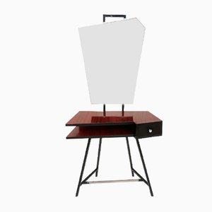 Black Lacquered Metal and Formica Dressing Table, 1950s