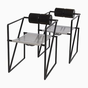 Seconda 602 Chairs by Mario Botta for Alias, 1980s, Set of 2